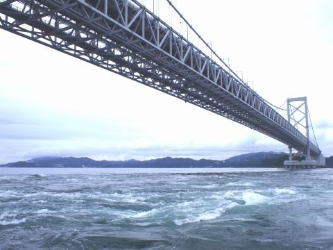 「わんだーなると」からの「大鳴門橋」